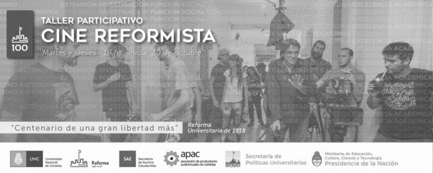Talleres participativos: Cine Reformista